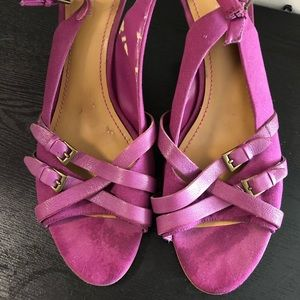 Pretty Pink Nine West Canvas/Leather Sandals 12M